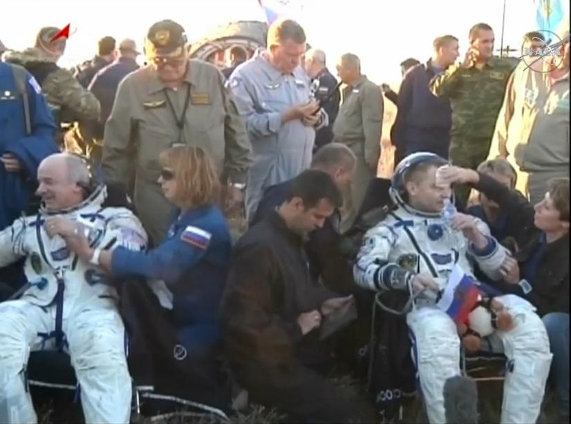 Russian spacecraft with 3 cosmonauts onboard lands in Kazakhstan